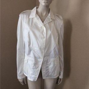 Jil Sander White Cotton Blend Blazer